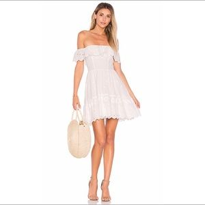 LoveShackFancy Izzy eyelet off shoulder dress